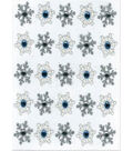 EK Success Dimensional Stickers-Snowflake Repeats
