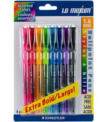Ballpoint Pens 1.6mm-Assorted