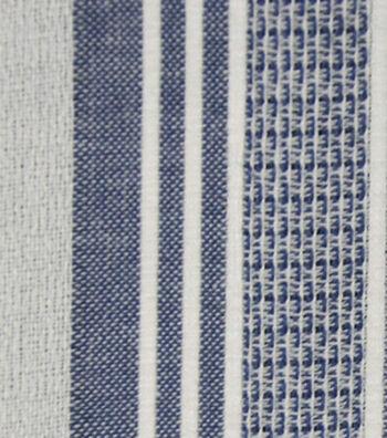 Cotton Fabric 42''-Blue & White Variegated Stripe