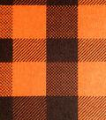 Snuggle Flannel Fabric -Carrot Check