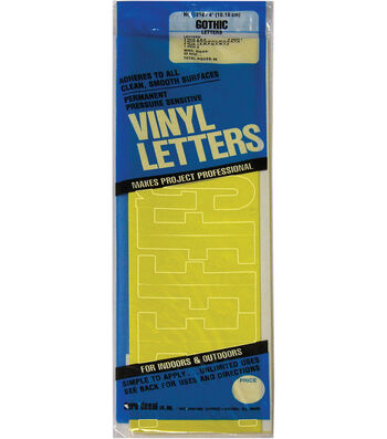 Duro 95pcs Permanent Adhesive Vinyl Letters