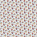 Novelty Cotton Fabric-Music Class Stick Figures