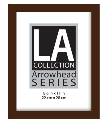 LA Collection Flat Top Wall Frame 8.5X11-Espresso