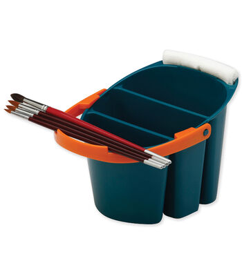 "Mijello Blue Artists Bucket 11.4""X7.5""X6.3""-Holds 2 Liters"