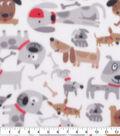 Blizzard Fleece Fabric-Tan Multi Dogs