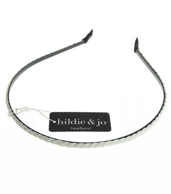 hildie & jo Braided Headband-White