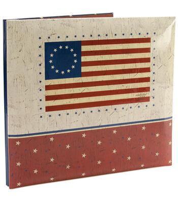 "MBI American Flag Post Bound Album 12""X12""-Flag"
