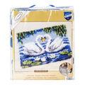 Vervaco Latch Hook Rug Kit 22\u0027\u0027X16\u0027\u0027-Elegant Swans