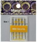 Klasse Metallic Machine Needles 5/Pk-Size 12/80