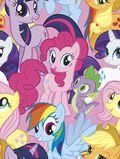 Hasbro My Little Pony Fleece Fabric -Packed