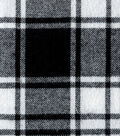 Flannel Shirting Fabric 41\u0022-Large Black White