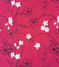 Embroidered Knit Fabric -Wine