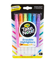 Crayola Take Note! Erasable Highlighters-Assorted Colors 6ct, , hi-res
