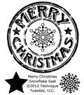Technique Tuesday Clear Stamps Merry Christmas Snowflake Seal