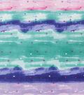 Anti-Pill Plush Fleece Fabric-Small Hearts On Watercolor