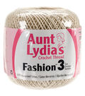 Aunt Lydia\u0027s Fashion Crochet Thread Size 3 Pack of 12-Natural