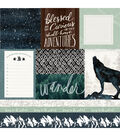 Heidi Swapp Wolf Pack Double Sided Cardstock-Wander & Checkerboard