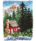 Wonderart Latch Hook Kit 15\u0022X20\u0022-Cozy Cabin