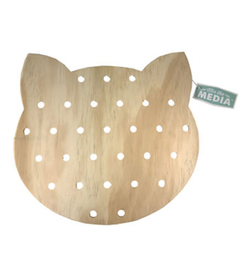 Mix the Media Unfinished Cat Pegboard
