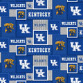 University of Kentucky Wildcats Fleece Fabric-College Patch