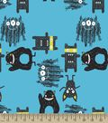 Blue Monsters Print Fabric