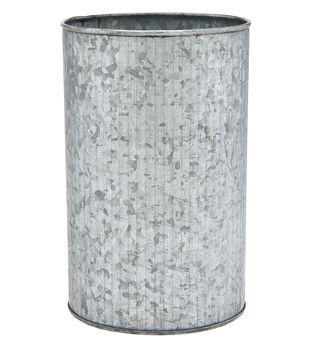 Ribbed Round Galvanized Container 7.5''x4.5''