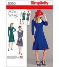 Simplicity Vintage 1940\u0027S Dress Pattern-6-8-10-12-14