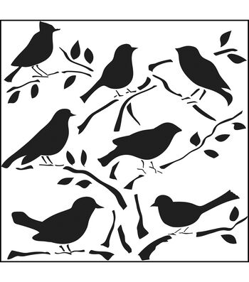 "Crafter's Workshop Templates 12""X12-Birds"