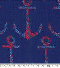 Keepsake Calico Cotton Fabric-Anchors Away Paisley Anchors