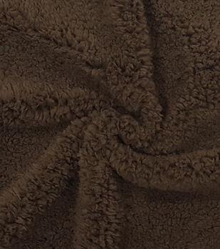 Fashion Faux Fur Fabric -Brown Sherpa