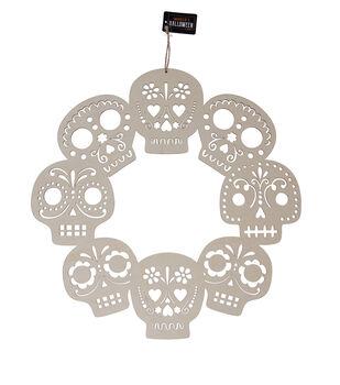 Maker's Halloween Craft 15.55''x0.2'' Skull Wreath