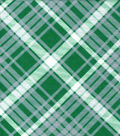 Snuggle Flannel Fabric -Kate Green & Gray Plaid