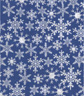 Christmas Cotton Fabric -Snowflakes Blue