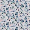 Snuggle Flannel Fabric-Pastel Tents