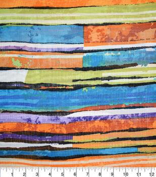 Fast Fashion Chiffon Fabric-Spice Abstract Stripe