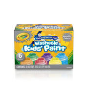 Crayola Washable Metallic Paint 2oz 6/Pkg-, , hi-res