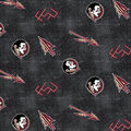 Florida State University Seminoles Flannel Fabric 42\u0022-Distressed Logo