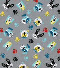 Snuggle Flannel Fabric -Colorful Pups