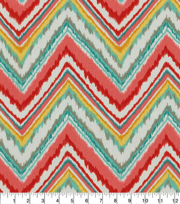 "Dena Design Outdoor Fabric 54""-Chevron Charade Watermelon"