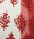 Casa Embellish Gardinia Corded Sequin Fabric 49\u0027\u0027-Tango Red