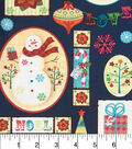 Keepsake Calico Christmas Cotton Holiday Fabric 43\u0027\u0027-Snowman Patch