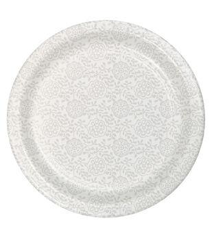 8ct Dessert Plate-Print White