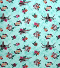 Star Wars Cotton Fabric-Droid and Xwing Light Turquoise