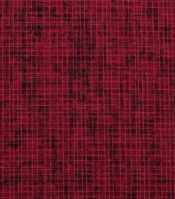 "Harvest Cotton Fabric 44""-Burgundy Harvest Cross Hatch"
