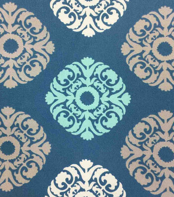 Outdoor Fabric-Medallion Stamp Peacock