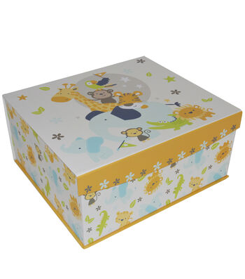Organizing Essentials Large Fliptop Box-Sweet Safari