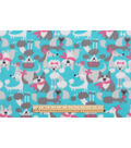 Blizzard Fleece Fabric -Dogs With Bows And Scarfs