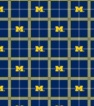 University of Michigan Wolverines Flannel Fabric -Plaid