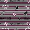 Texas A&M University Aggies Fleece Fabric -Polo Stripe