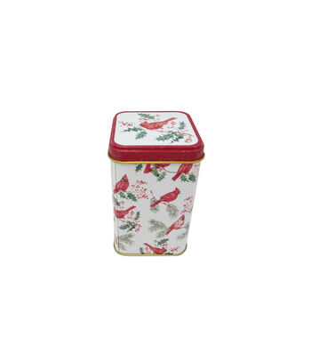 Maker's Holiday Christmas Small Square Canister-Cardinal